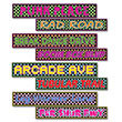 "80's Street Sign Cutouts 4"" x 24"" (4 pack)"