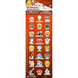 EMOJI PUFFY STICKERS SAYINGS (24 COUNT)