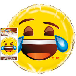 "EMOJI 18"" FOIL BALLOON CRYING/LAUGHING"