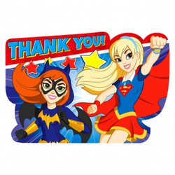 DC Super Hero Girls Postcard Thank You (8 pack)