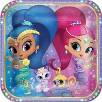 "Shimmer & Shine 9"" Square Plates (8 pack)"