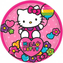 "Hello Kitty Rainbow® 7"" Round Plates (8 pack)"