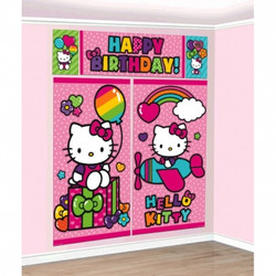 Hello Kitty Rainbow® Scene Setters® Wall Decorating Kit