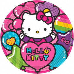 "Hello Kitty Rainbow® 9"" Round Plates (8 pack)"
