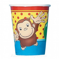 Curious George Party 8 9 Oz. Cups