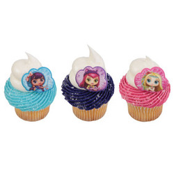 Little Charmers Hazel, Lavender & Friends Cupcake Rings (12)