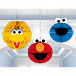 Sesame Street® Honeycomb Decorations (3 count)