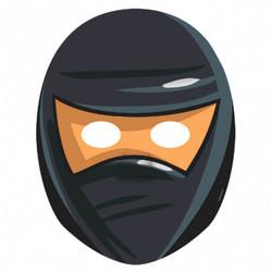 Ninja Paper Masks (8 count)