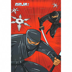 Ninja Folded Loot Bags (8 count)