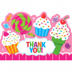 Sweet Shop Postcard Thank You Cards (8 count)