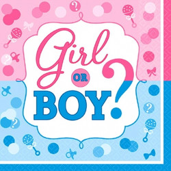 Girl or Boy? Luncheon Napkins (16 pack)