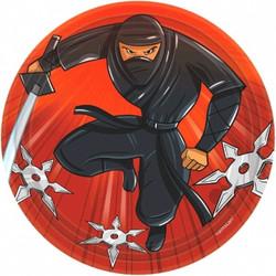 """Ninja Round Plates, 7"""" (8 pack)"""