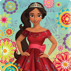 "Disney Elena of Avalor 7"" Square Plates (8)"