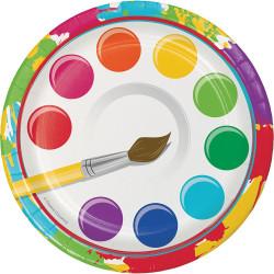 Art Party Dessert Plates (8)