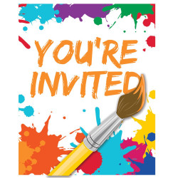 Art Party Invitations (8)