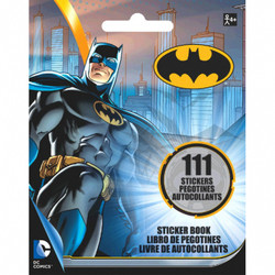 Add a little color to your party with a Batman Sticker Book. Each page features the Caped Crusader ready for action! You can use them to decorate invitations and seal envelopes, or drop one sheet in each Batman goodie bag! Batman Sticker Book product details:  4in wide x 5in tall 9 pages 111 stickers Not for children under 4 years.