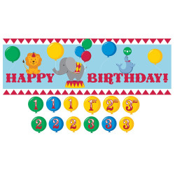 Circus Time Giant Party Banner w/stickers