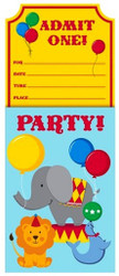 Circus Time Invitations (8)