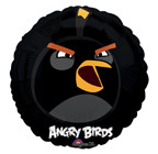 "Angry Birds 18"" Black Bird Balloon"