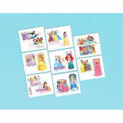 Disney Princess Dream Big Tattoos (8 COUNT)