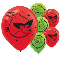 Angry Birds Space Printed Latex Balloons 6 Ct.