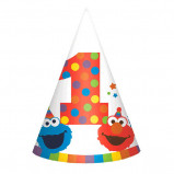 Elmo Turns One Paper Cone Hats (8)