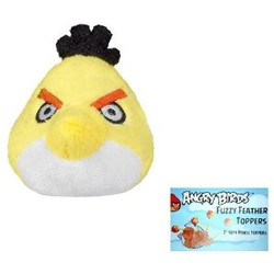 Angry Birds Fuzzy Pencil Topper - Yellow Bird