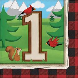 Lum-Bear-Jack 1st Birthday Lunch Napkins (16)