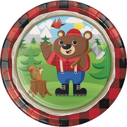 "Lum-Bear-Jack 9"""""""" Plates (8)"