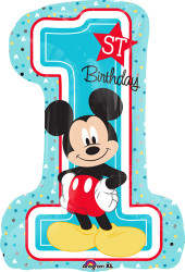 Mickey 1st Birthday Large Shape