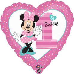"Minnie 1st Birthday 18"""""""""""""""""