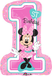 Minnie 1st Birthday Large Shape