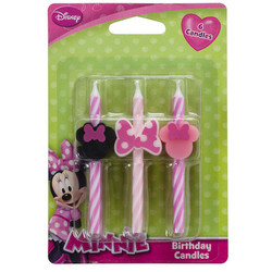 Minnie Mouse Icon Candles 6 pack