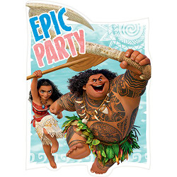 Moana Postcard Invitations (8)