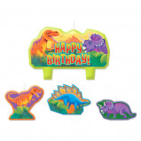 Prehistoric Party Birthday Candle Set