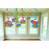 Prehistoric Party Swirl Decorations Value Pack
