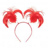 Red Ponytail Headband