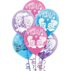 Shimmer and Shine Latex Balloons (6)