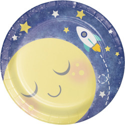 "To the Moon and Back 7"""""""" Plates (8)"