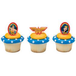 Wonder Woman Amazing Amazon Cupcake Rings 12 pack