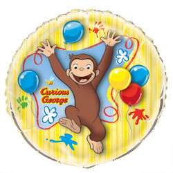 Curious George Giant Round Foil Balloon, 34""
