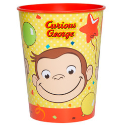 Curious George 16oz Plastic Stadium Cup