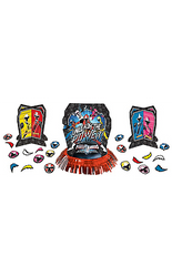 "Save the party from boring decorations with this Power Rangers Ninja Steel Table Decorating Kit! This kit includes a large centerpiece featuring the five main Ninja Steel Rangers with an ""Unleash The Power!"" headline. There are also two smaller centerpieces and table scatter featuring the Ninja Rangers included. Spread these Ninja Steel decorations around the room to make the table decor pop at your little one's Power Rangers! Power Rangers Ninja Steel Table Decorating Kit includes:  Large centerpiece, 10in wide x 12 3/4in tall 2 small centerpieces, 6 1/2in wide x 7in tall 20 pieces of table scatter, 2in diameter"