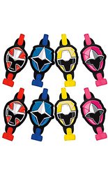 Blow your little one's ninja squad away with these Power Rangers Ninja Steel Blowouts! These birthday party favors come in blue, pink, red, and yellow with the matching Ninja Rangers' masks. When you blow into these Power Rangers blowouts, they extend and retract. Hand them out at the Power Rangers party or add them to the rest of your awesome Power Rangers party favors!