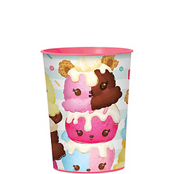 Send guests off with the Num-ber one party favors using this Num Noms Favor Cup! This plastic favor cup feature adorable Num Noms characters including Lisa Lemon, Neo Trio, and more. Fill this plastic cup up with cute Num Noms party favors, candy, and other goodies for your guests. It's a cute way to show your appreciation for making your Num Noms party a berry sweet time! Num Noms Favor Cup product details:  16oz capacity 3 1/2in diameter x 4 1/2in tall BPA-free plastic Reusable Top-rack dishwasher-safe Not suitable for boiling hot liquids or microwave use Made in the USA
