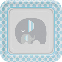 Little Peanut Boy Elephant Dinner Plates