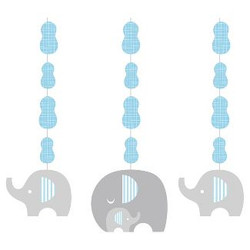 Little Peanut Boy Elephant Hanging Cutouts