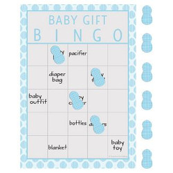 Little Peanut Boy Elephant Baby Shower Bingo