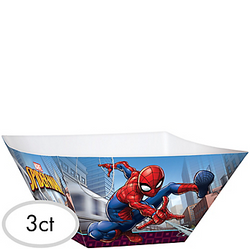 Spider-Man Webbed Wonder Serving Bowls 3ct