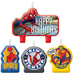 Spider-Man Webbed Wonder Birthday Candles 4ct